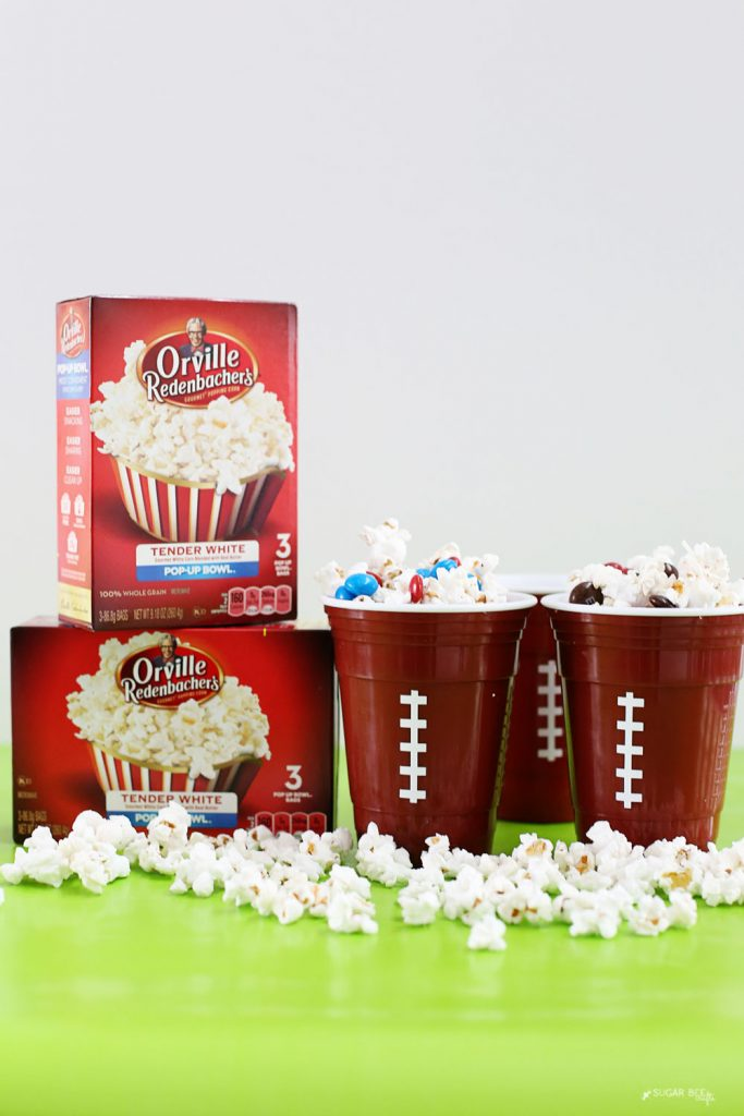 Game Day Party snack idea popcorn