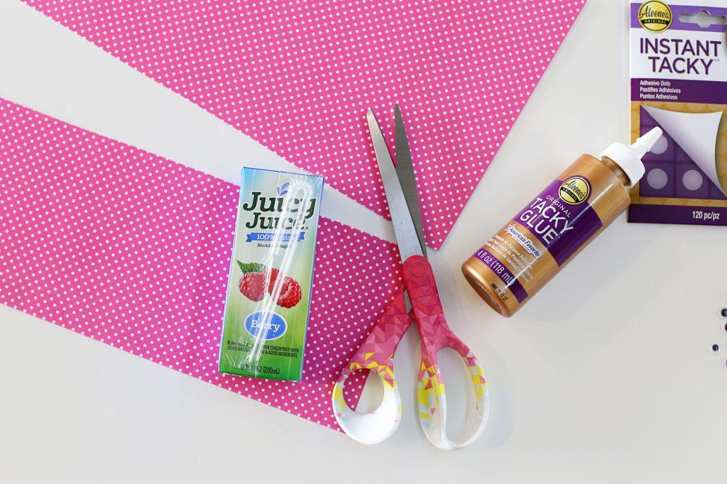 Valentine Juice Box paper strip