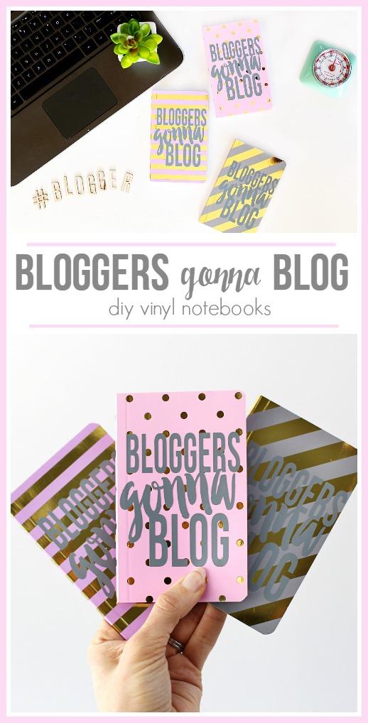 bloggers gonna blog diy vinyl notebooks