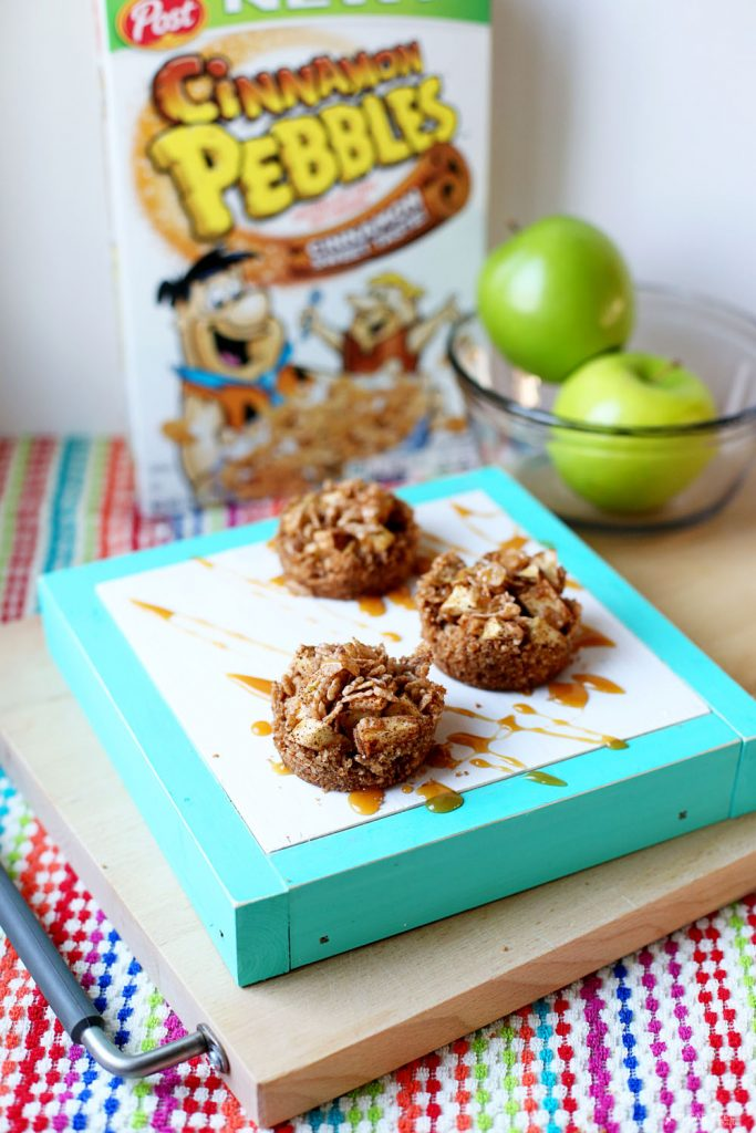 cinnamon pebbles apple crumble cups
