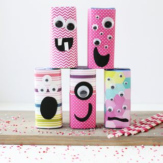 class valentine party juice box treat idea monsters