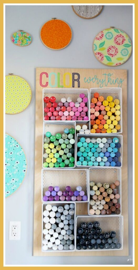 Craft paint storage organizer