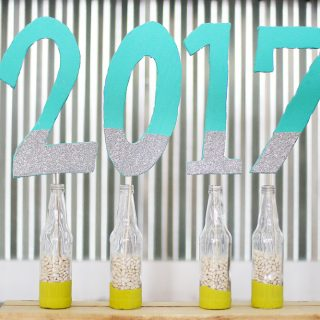 Diy foam numbers new year graduation party decor idea