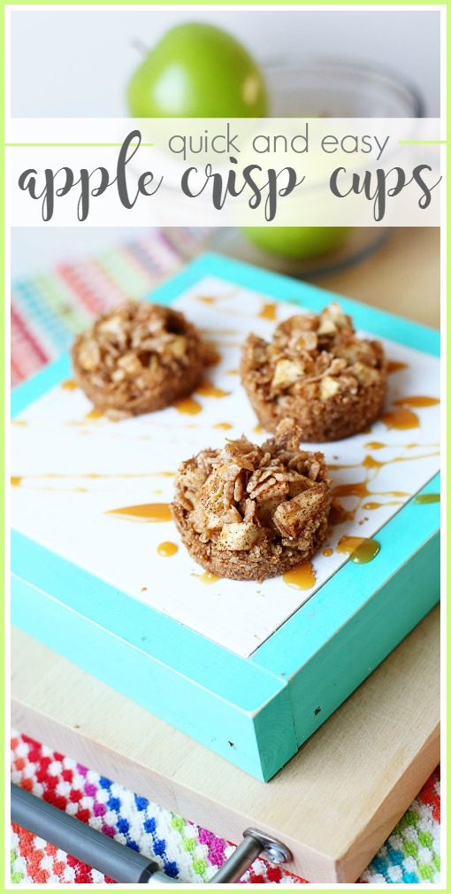 easy apple crisp cups