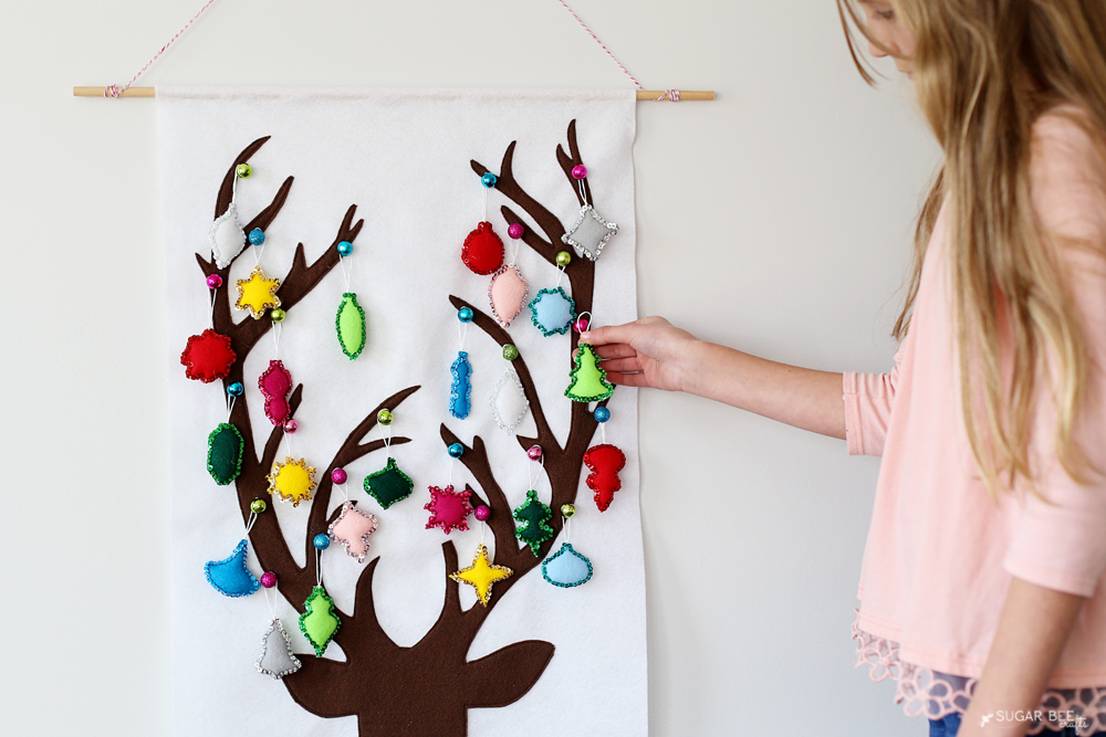 felt advent calendar christmas countdown diy