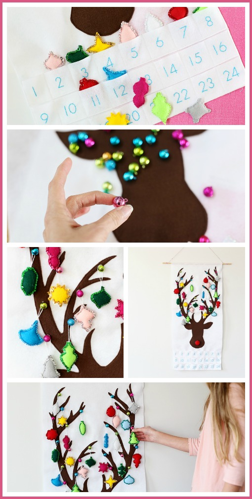 felt advent diy christmas craft idea