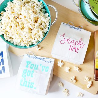 Healthy popcorn snack idea craft
