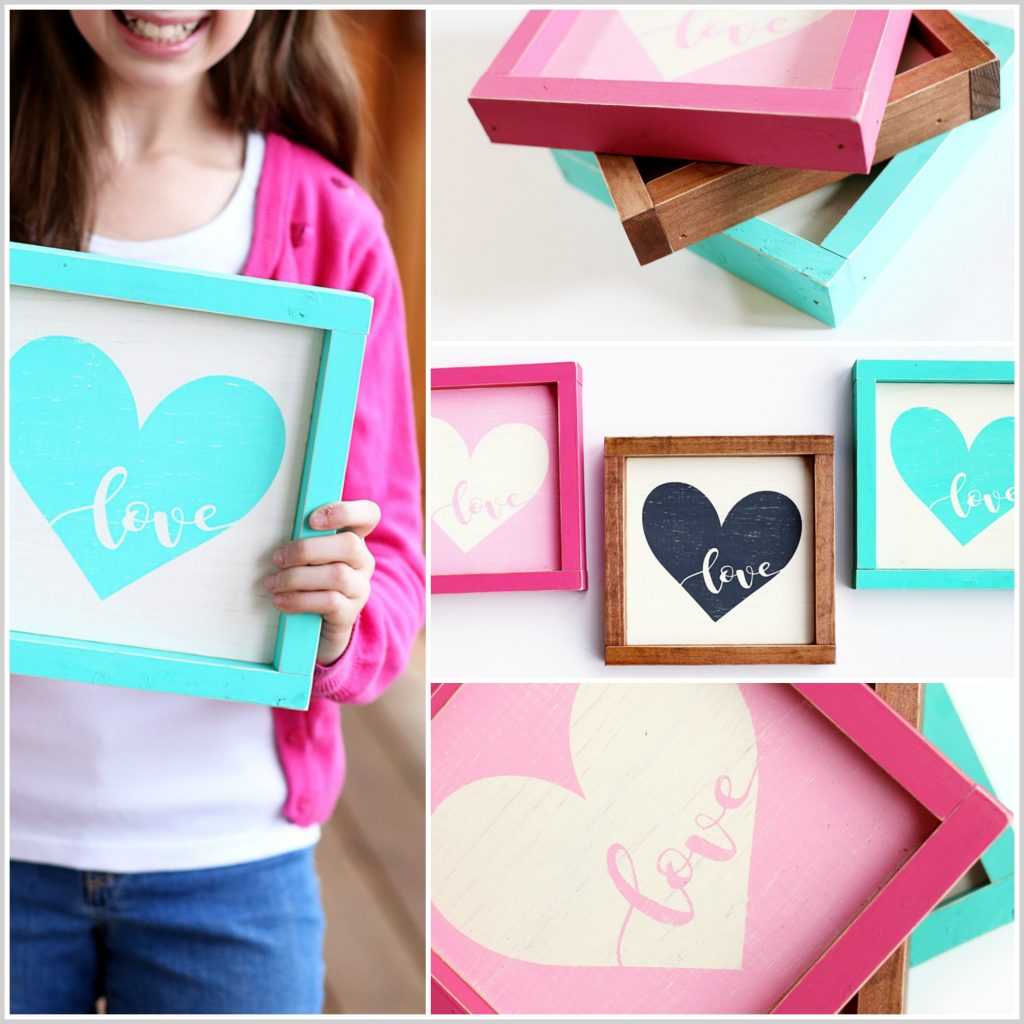 love heart sign collage