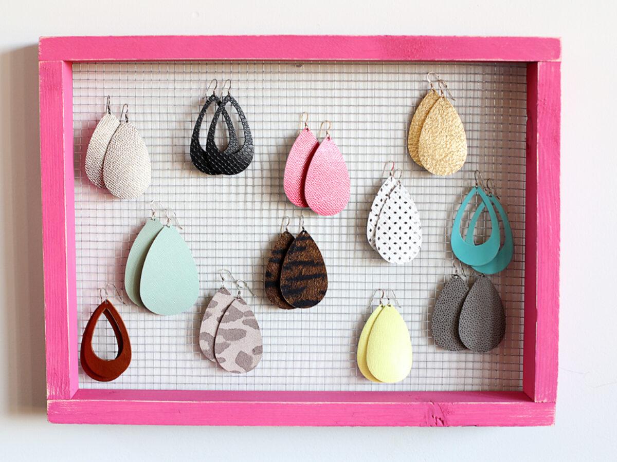Simple Earring Holder Sugar Bee Crafts
