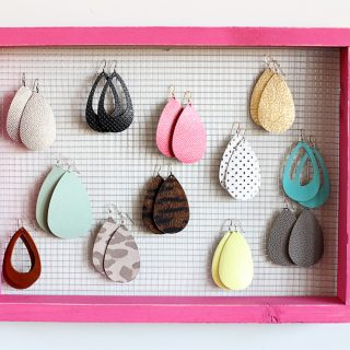 Make your own diy earring holder