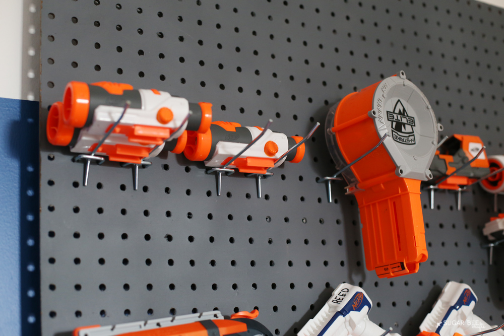 nerf hang pegboard