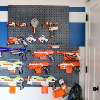 Nerf Wall Pegboard Storage