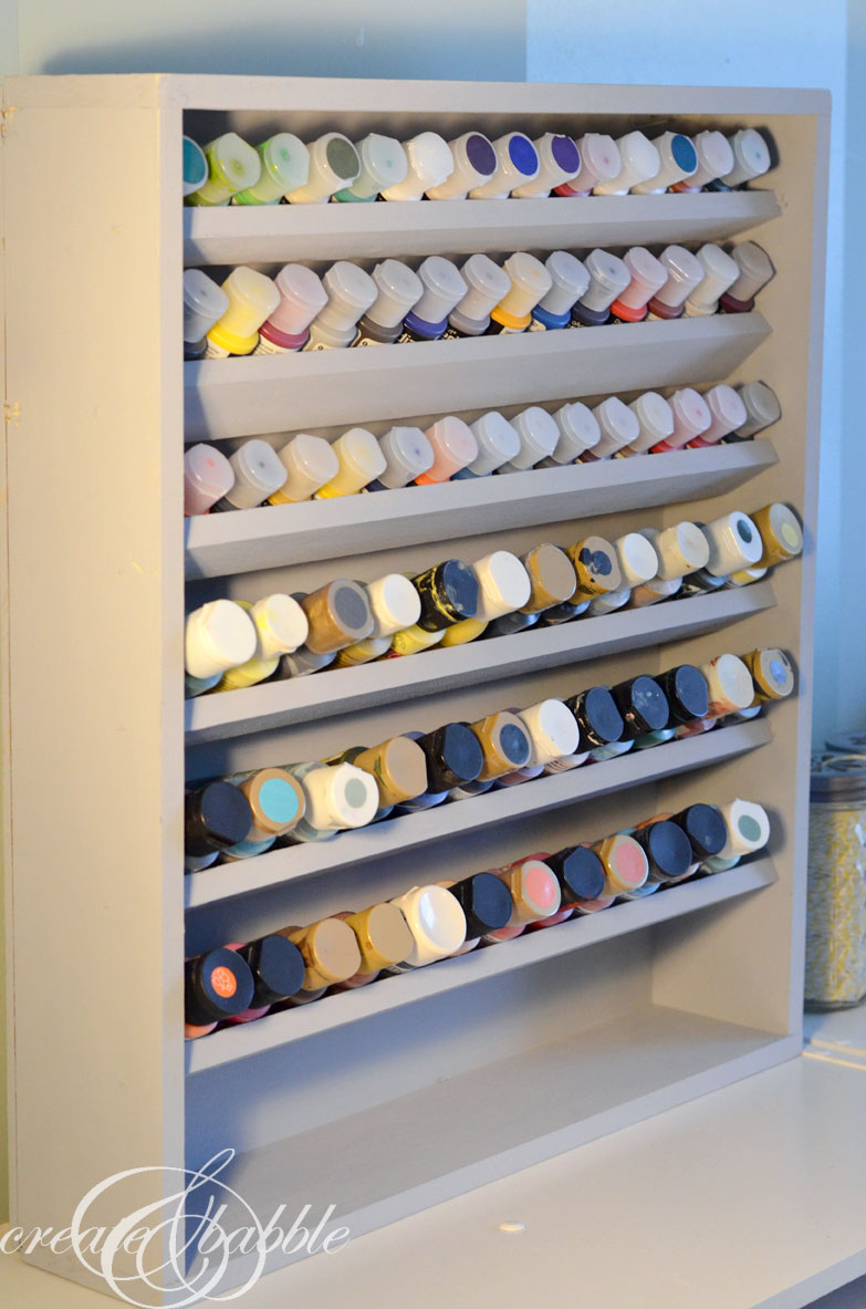 Craft paint storage ideas sugar bee crafts - Pinterest small space ideas paint ...