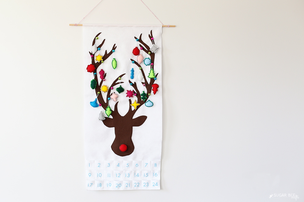 reindeer ornament felt advent calendar