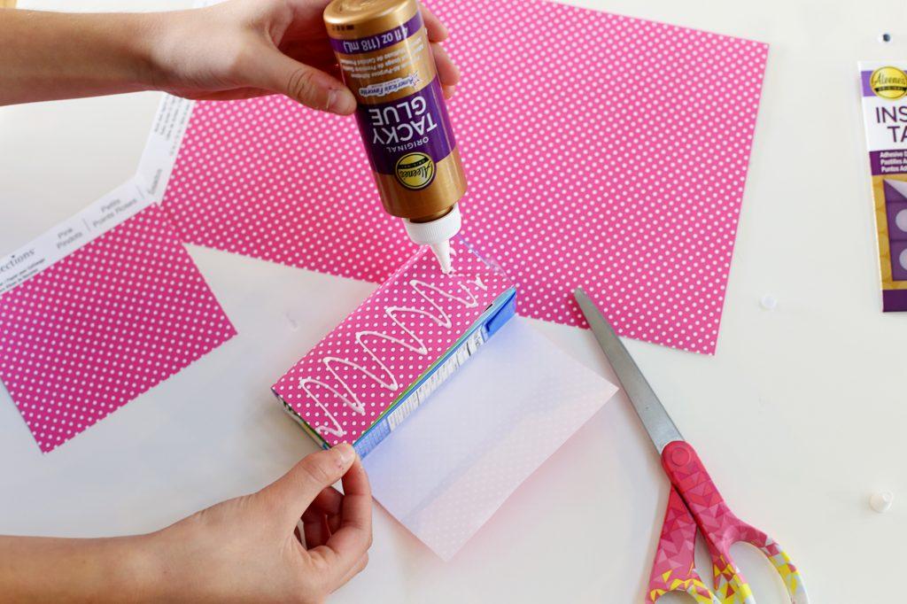 valentine juice box glue sleeve