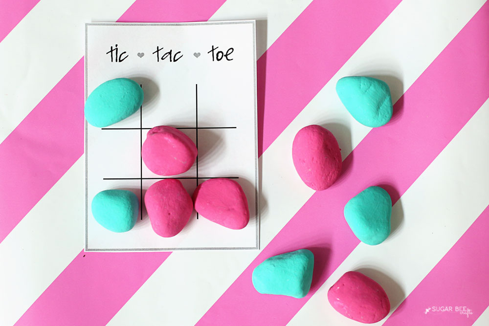 valentine tic tac toe with free printable