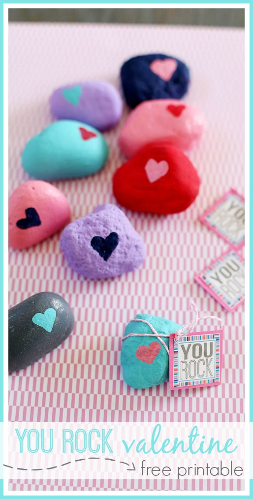 It is an image of Mesmerizing You Rock Valentine Printable