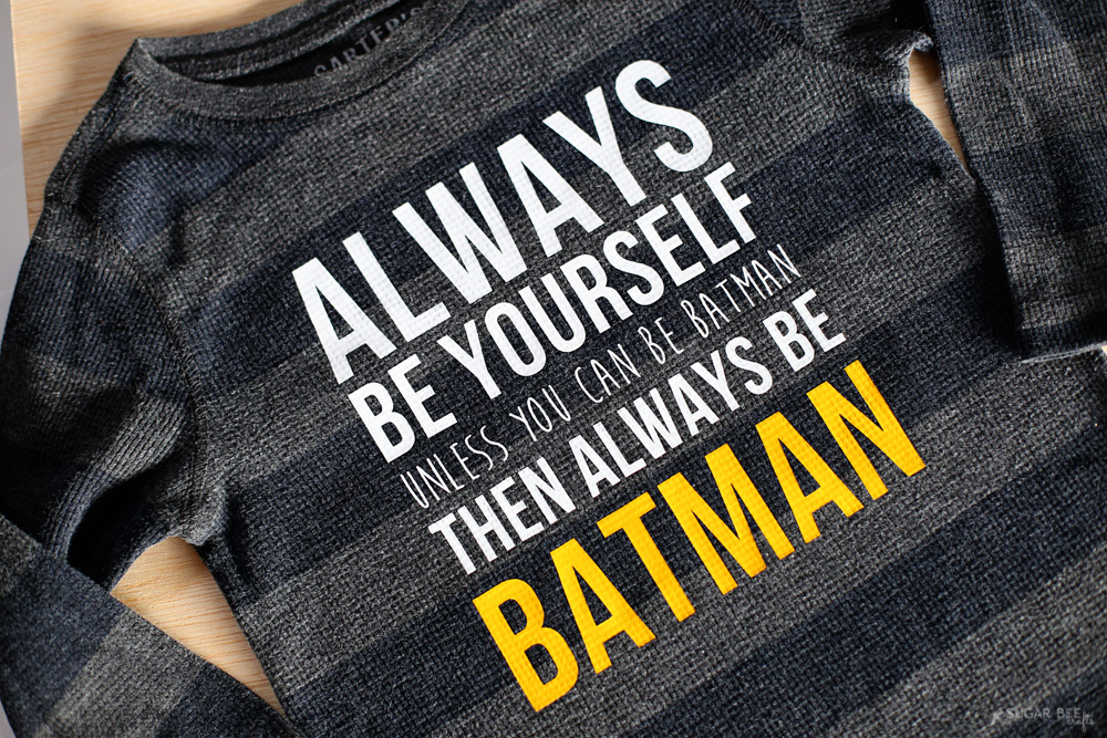 always be batman diy graphic tee