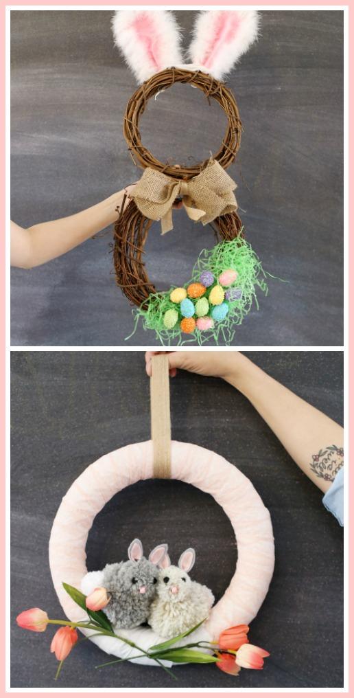 Bunny wreath ideas for spring