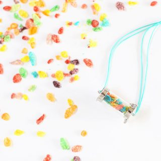 cereal pebbles pendant necklace