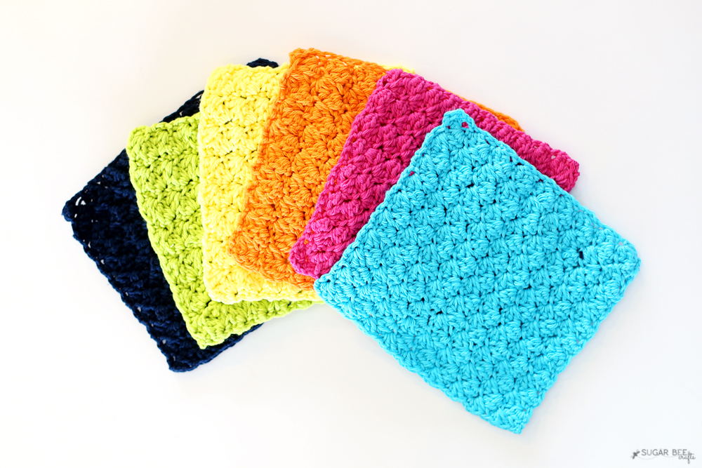 Crochet Dishcloths Sugar Bee Crafts