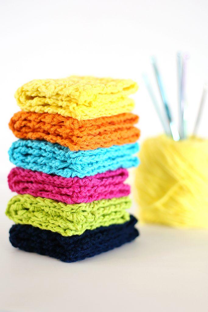 crochet kitchen dish towels crop