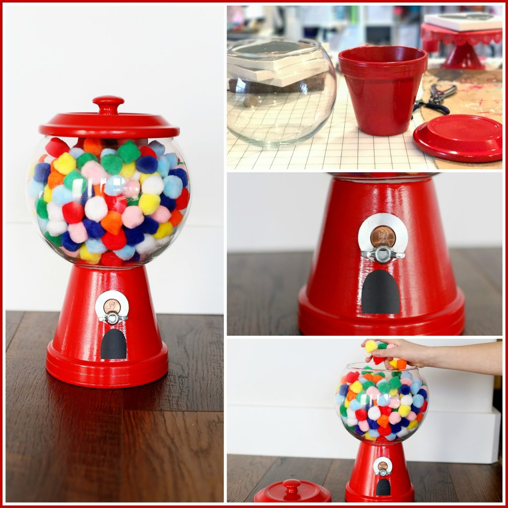 diy gumball machine collage