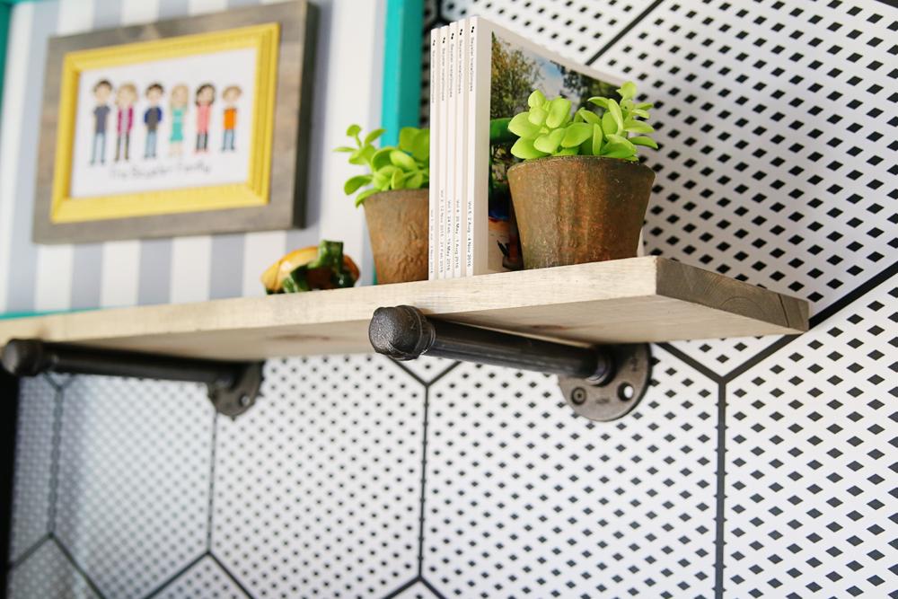 diy industrial shelf pipe