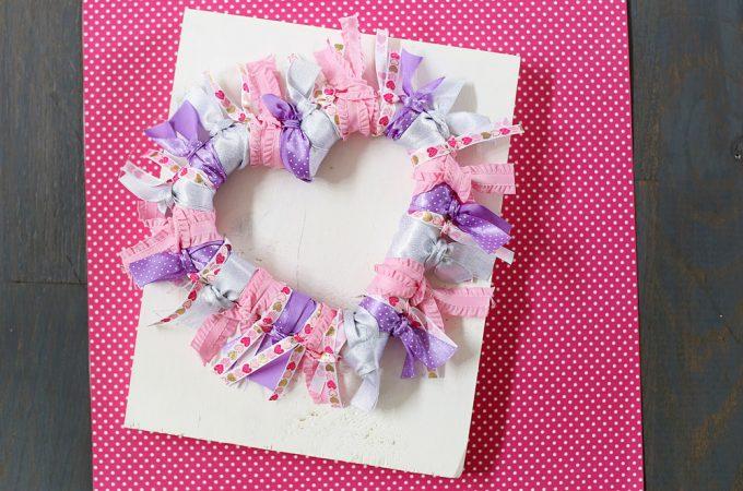 diy ribbon wreath tutorial