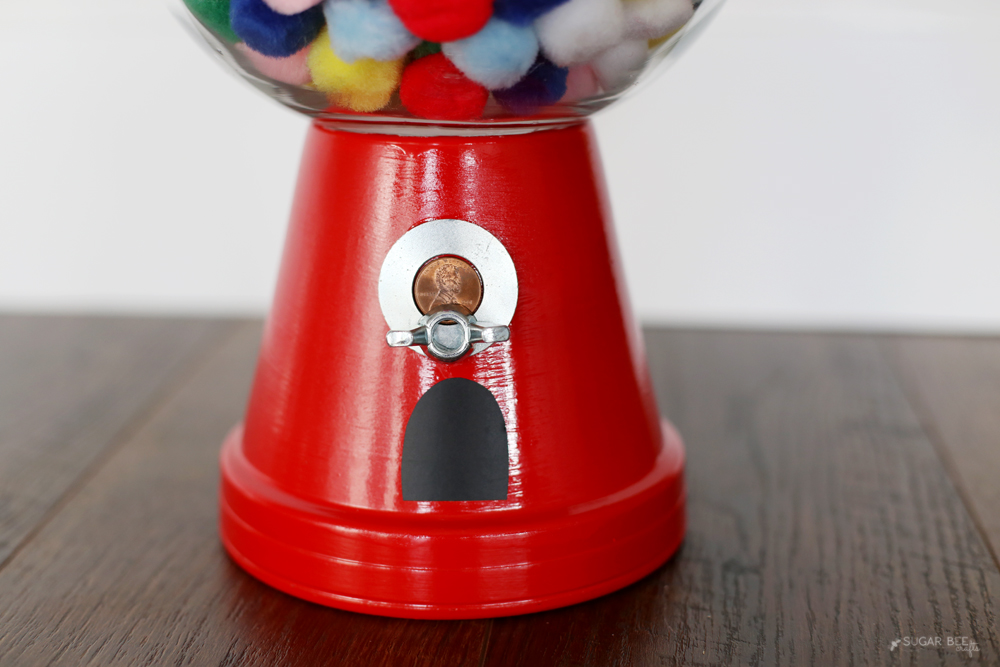 faux gumball machine details