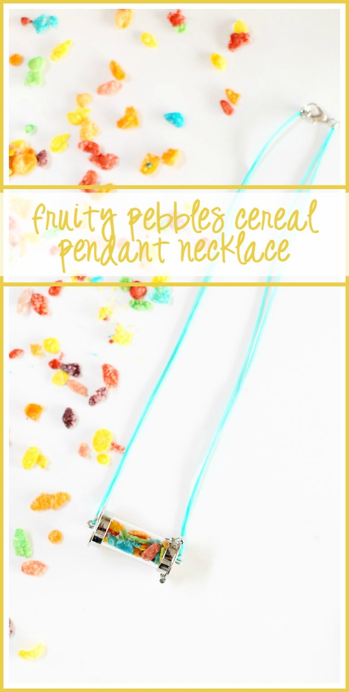 fruity pebbles cereal pendant necklace