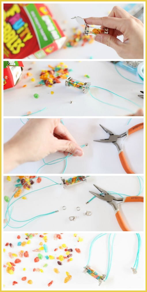 how to make a cereal necklace