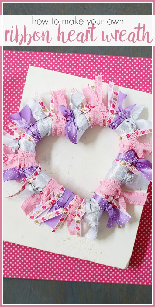 how to make a ribbon heart wreath tutorial