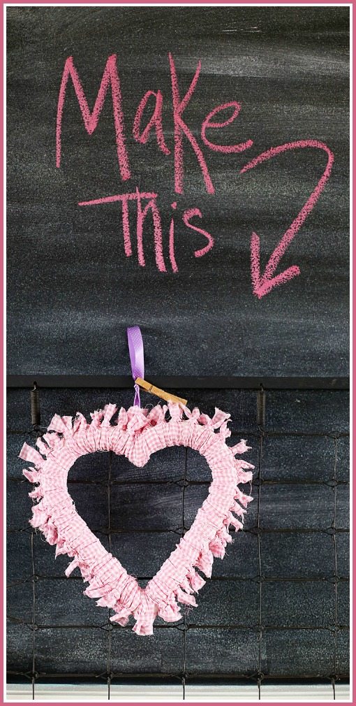 make this heart wreath simple tutorial