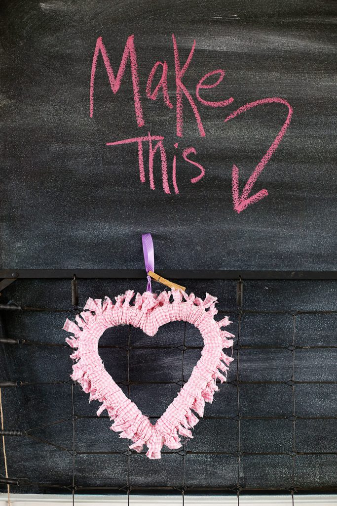make this heart wreath tutorial how to