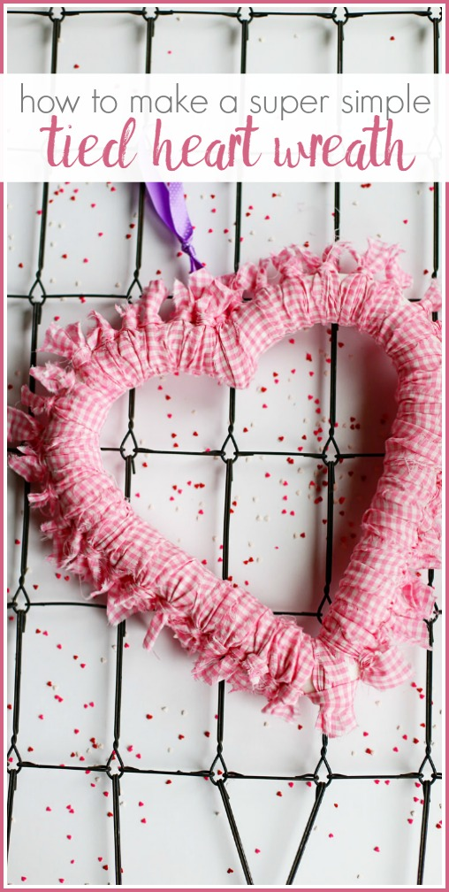 simple tied heart wreath how to