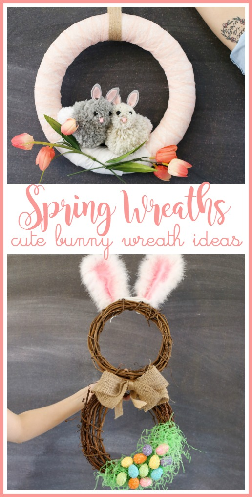 spring wreath bunny idea craft