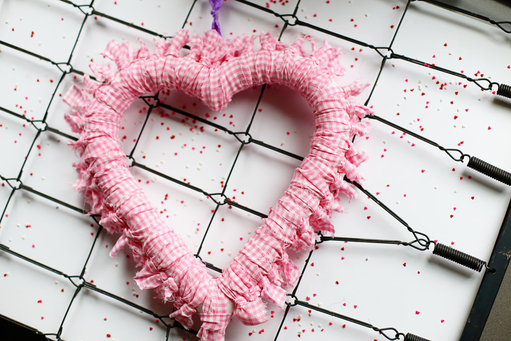 Tied Heart Wreath
