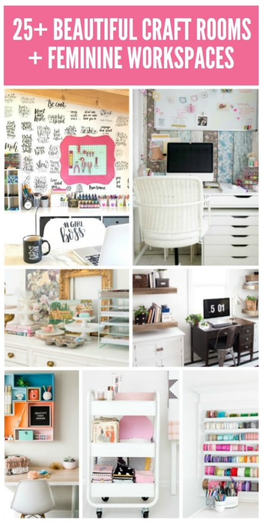 25+ Beautiful Craft Rooms + Workspaces