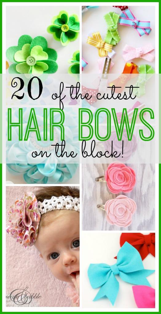 The Cutest Hair Bows
