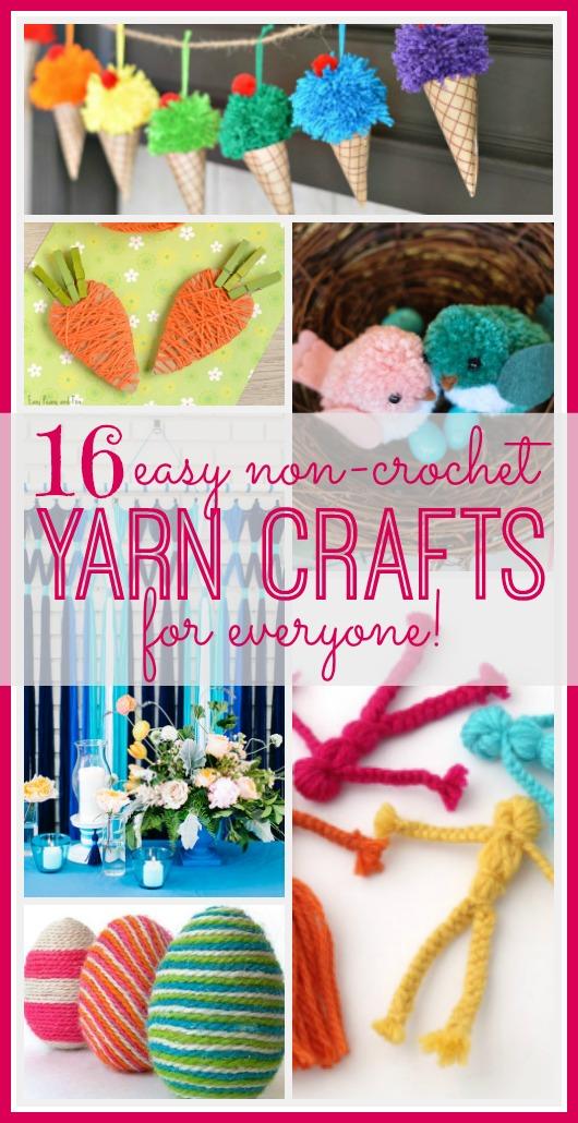 Easy Non Crochet Yarn Crafts Sugar Bee Crafts