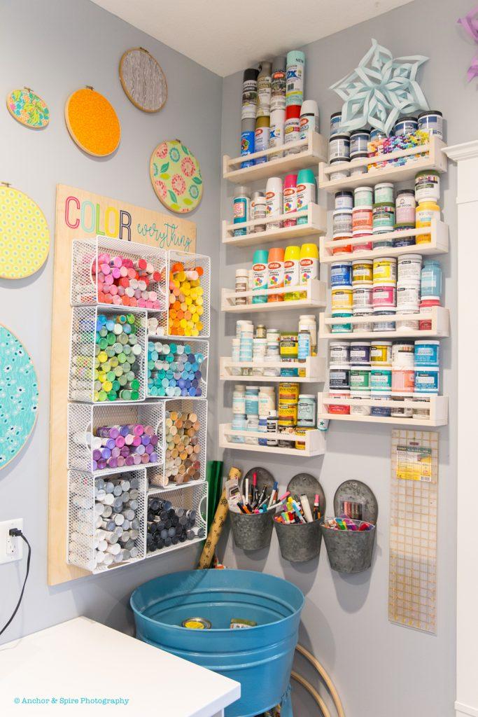 craft room paint corner