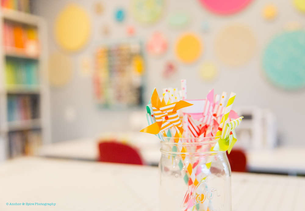 craft room pinwheels