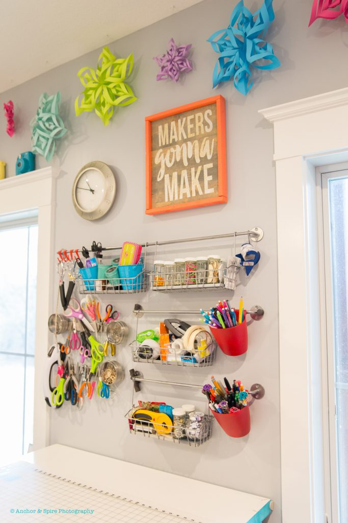 craft room tool wall