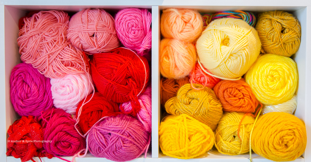 craft room yarn