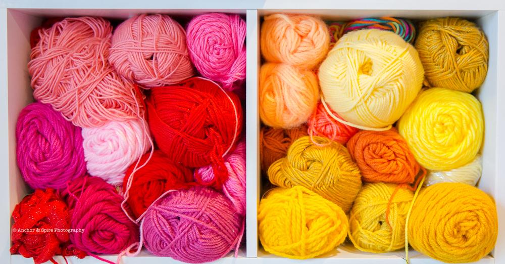 craft room yarn