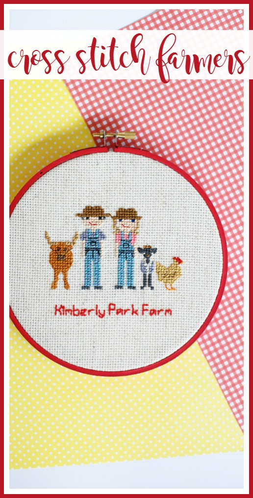 cross stitch farmers farm