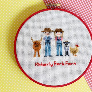 How to Display Cross Stitch in a Hoop