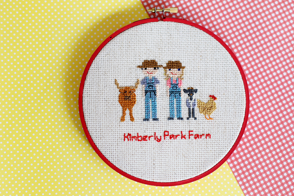 How To Display Cross Stitch In A Hoop Sugar Bee Crafts