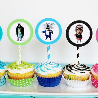 Cupcake topper sing movie